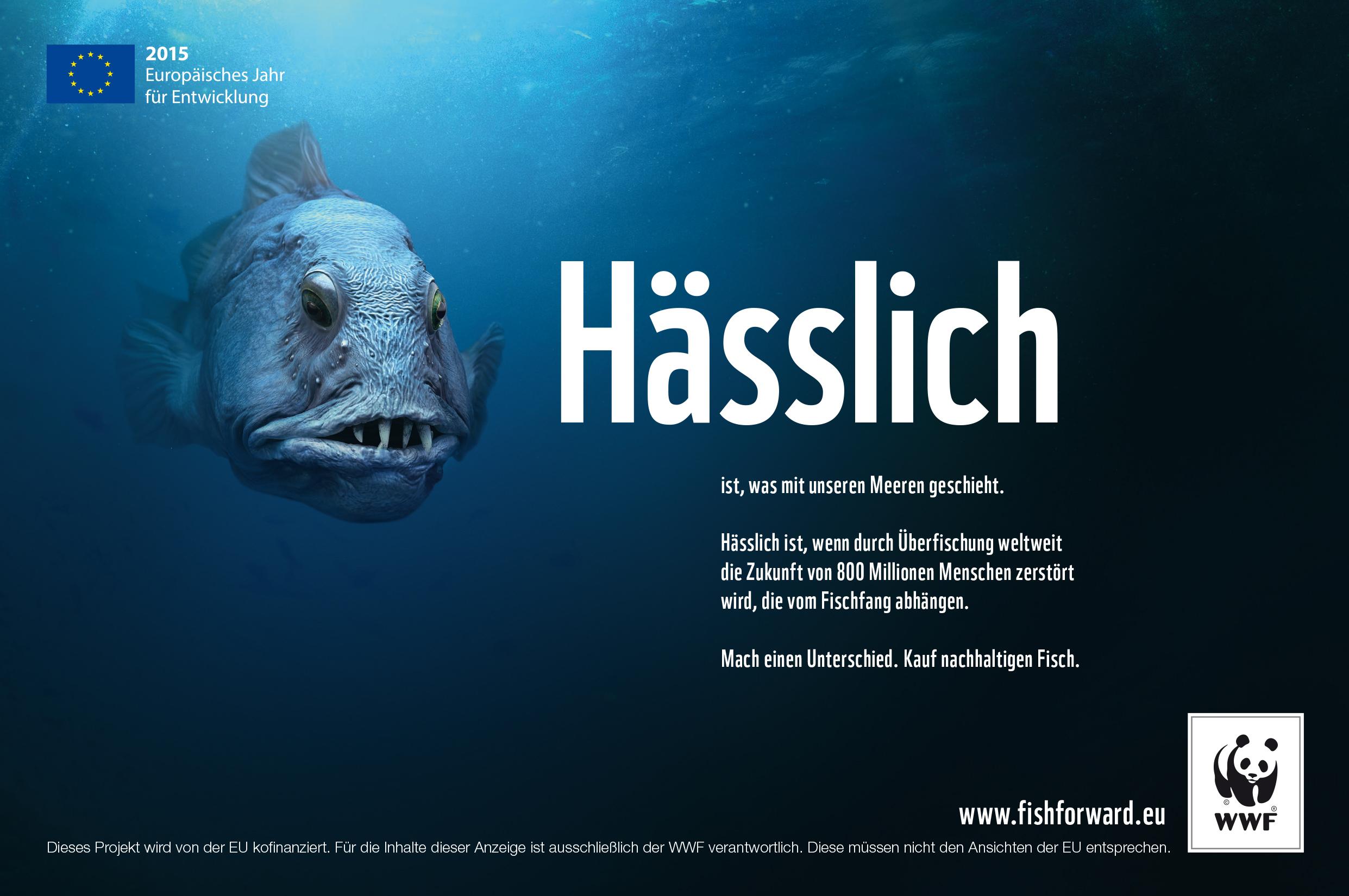 """""""Hässlich"""" Print Anzeige"""