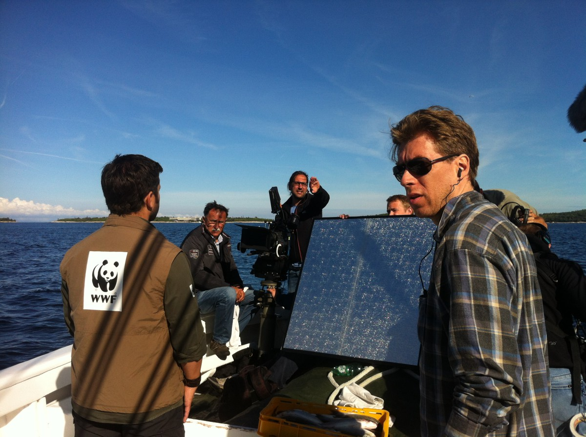 shooting of the SPAR TV-Spot for sustainable seafood products. © WWF