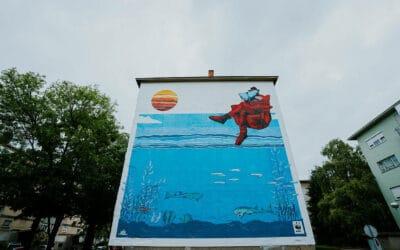 DAJ RIBI ŠANSU: zagrebački Augmented Reality morski mural koji jede smog?